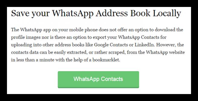 WhatsApp Web exportar contactos foto 1