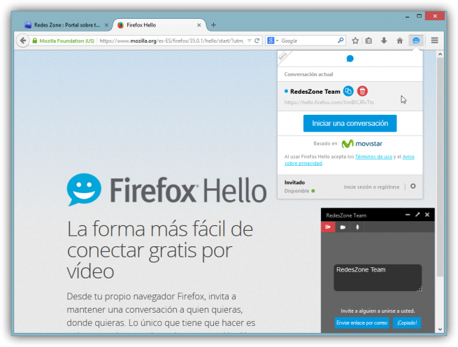 Firefox Hello analisis foto 5