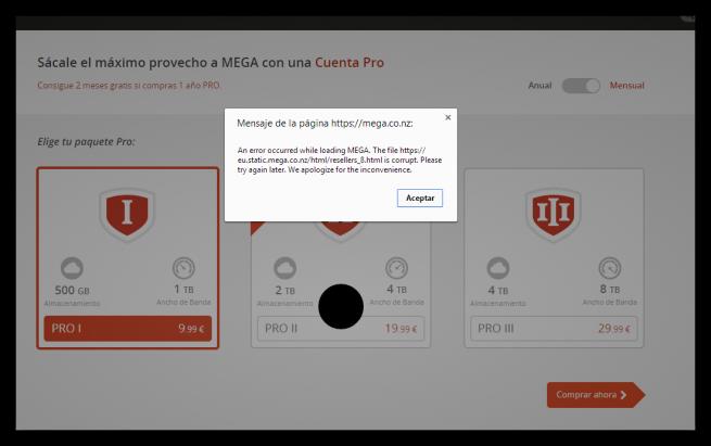 Mega Pro PayPal error