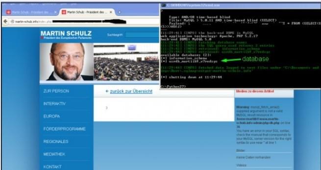 Parlamento europeo web del presidente hackeada