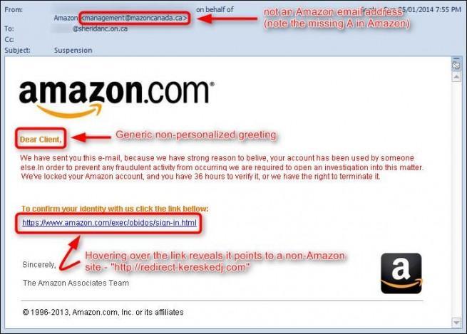 amazon nueva campaña phishing