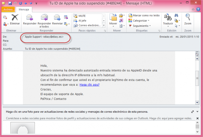 apple correo phishing