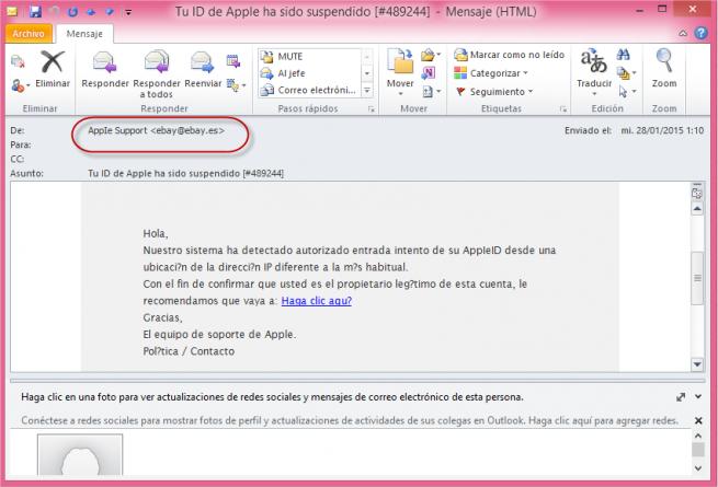 apple correo phishing