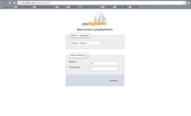 instalar phpmyadmin en nas synology 6