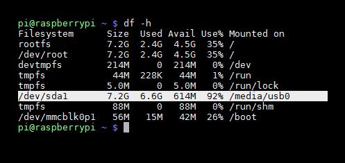 Raspberry Pi Montar USB automatico foto