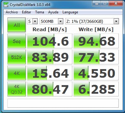 wd mycloud dl2100 jbod samba con cifrado 500 MB