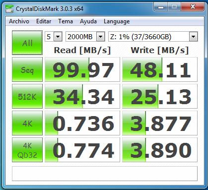 wd mycloud dl2100 jbod samba sin cifrado 2000 MB