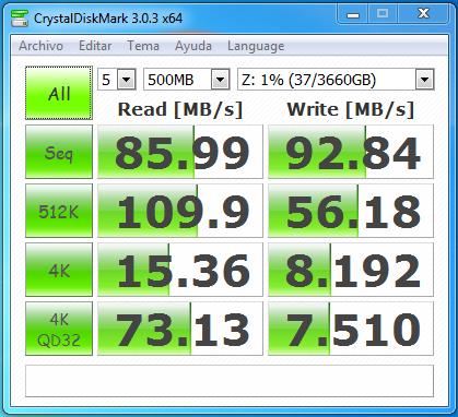 wd mycloud dl2100 jbod samba sin cifrado 500 MB