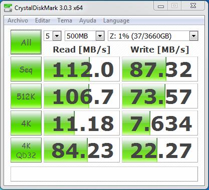 wd mycloud dl2100 raid0 samba sin cifrado 500 MB