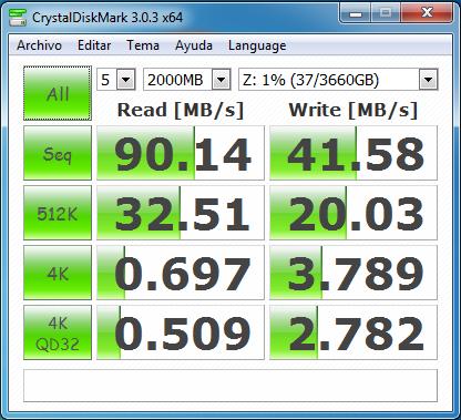 wd mycloud dl2100 raid1 samba con cifrado 2000 MB