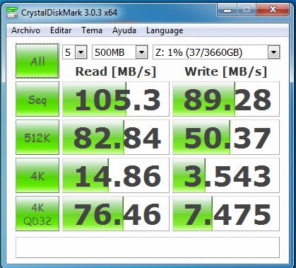 wd mycloud dl2100 raid1 samba con cifrado 500 MB
