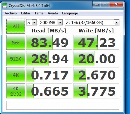 wd mycloud dl2100 raid1 samba sin cifrado 2000 MB