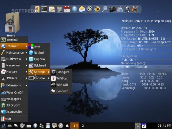 4mLinux sistema operativo poco uso de RAM
