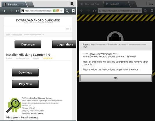Installer Hijacking Scanner falsa herramienta de seguridad