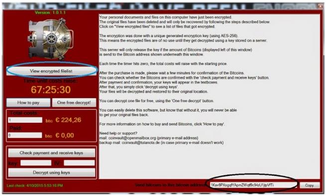 descifrar archivos afectados por coinvault