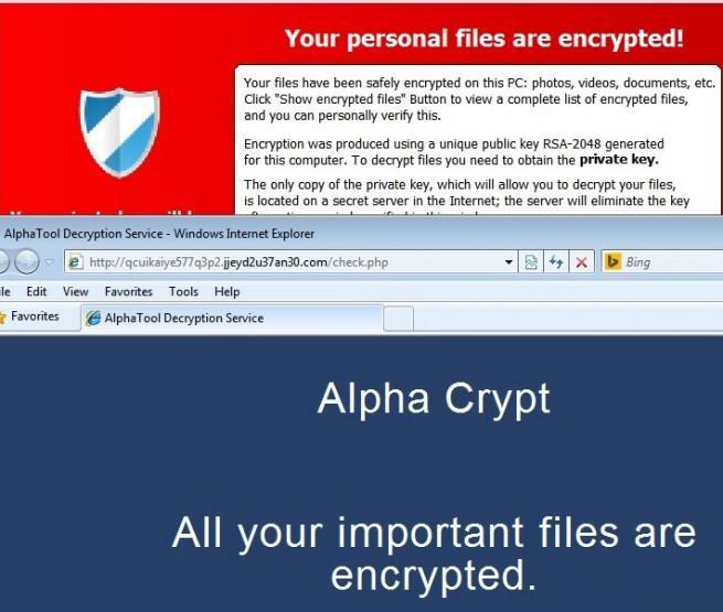 alphacrypt nuevo malware que cifra los archivos de los usuarios