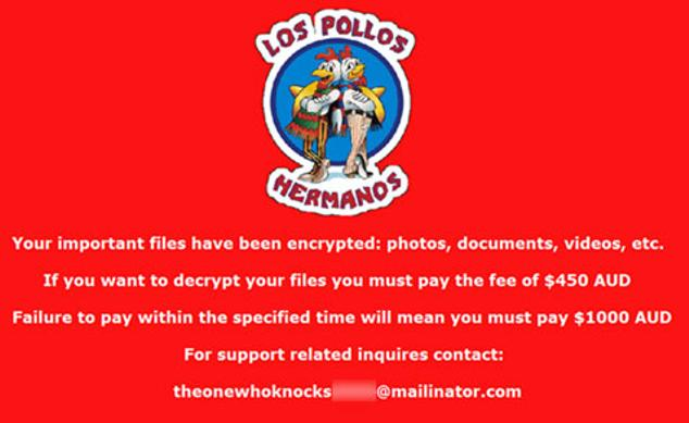ransomware breaking bad foto