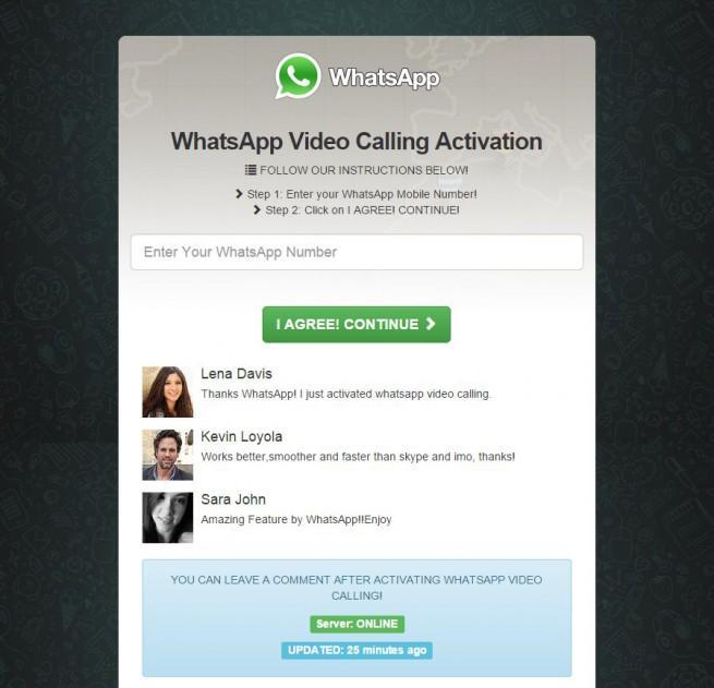 videollamadas en whtasapp estafa