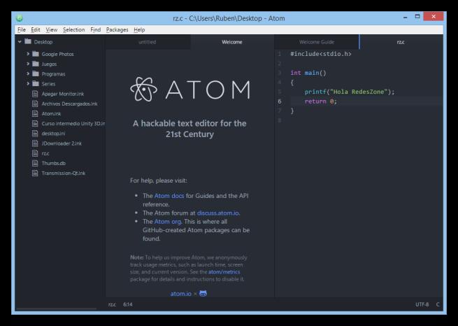Atom_editor_texto_github_foto