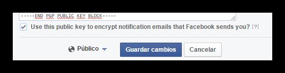 Facebook cifrado PGP correos foto 2
