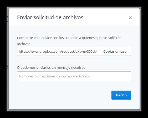 Solicitar archivos dropbox tutorial foto 4