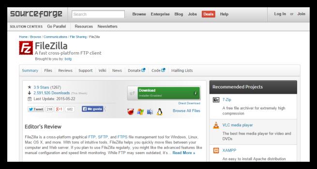 SourceForge nuevo instalador adware foto 1