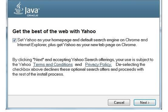 oracle prescinde de ask toolbar a favor de yahoo