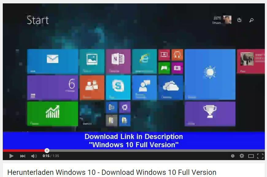 video de youtube distribuir versiones de windows 10 rtm falsas
