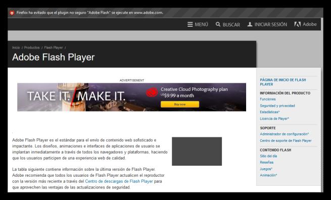 Mozilla Firefox bloquear contenido flash foto 2