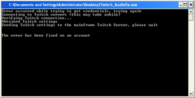 Captura dle malware para Twitch que roba las cuentas