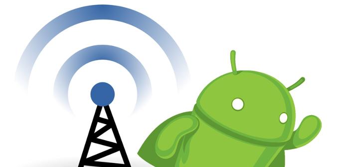 Android con una antena Wi-Fi