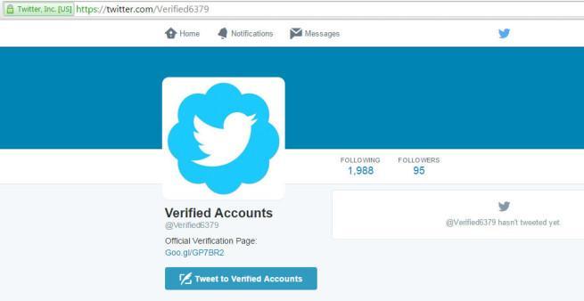 twitter verificación de cuentas estafa