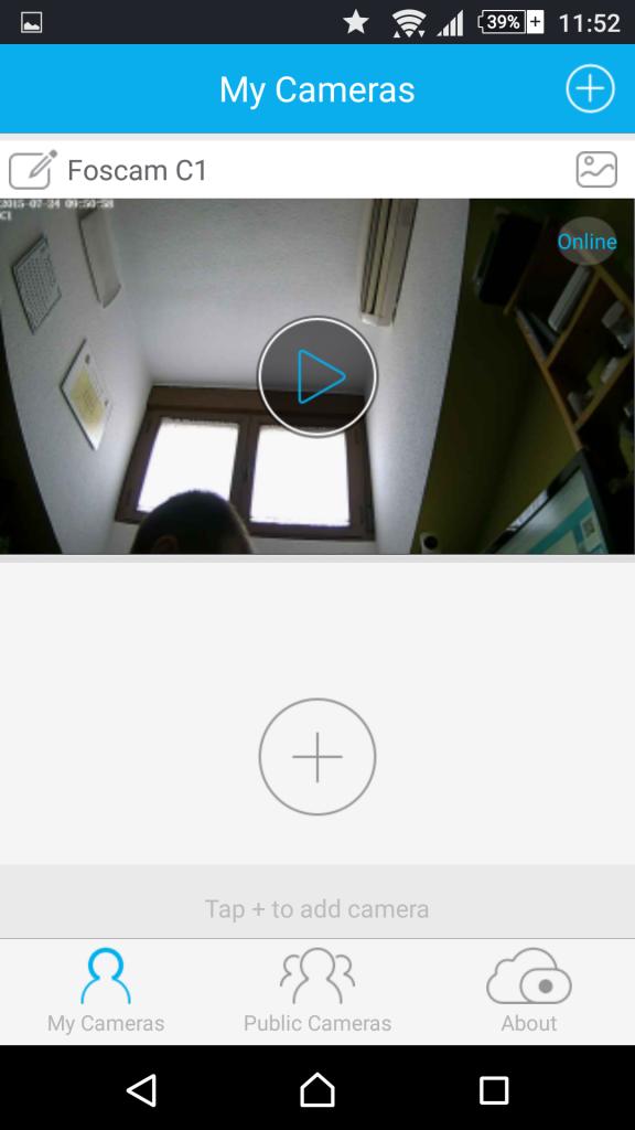 Foscam App Android: Configuraciones de la cámara IP