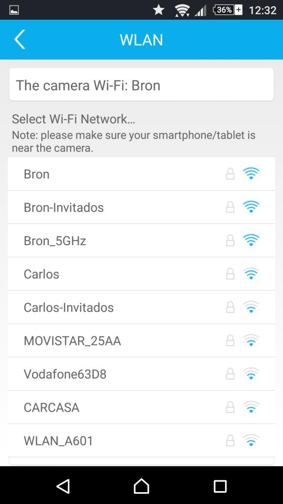 Foscam App Android: Configuración