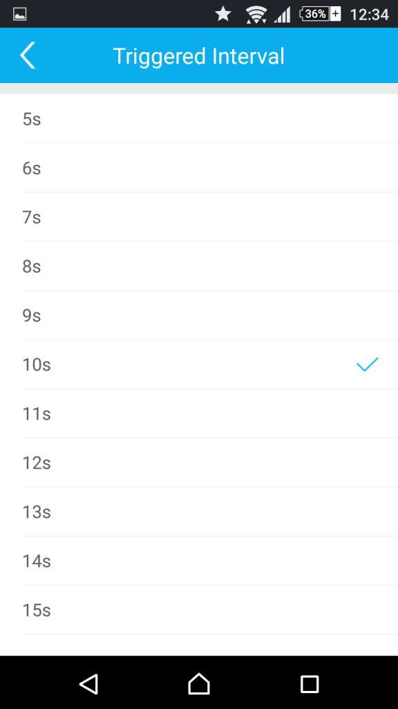 Foscam App Android: Configuración de las alertas