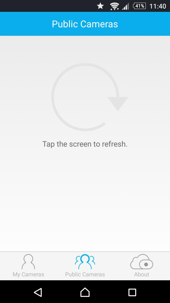 Foscam App Android Asistente Zonas de la aplicación