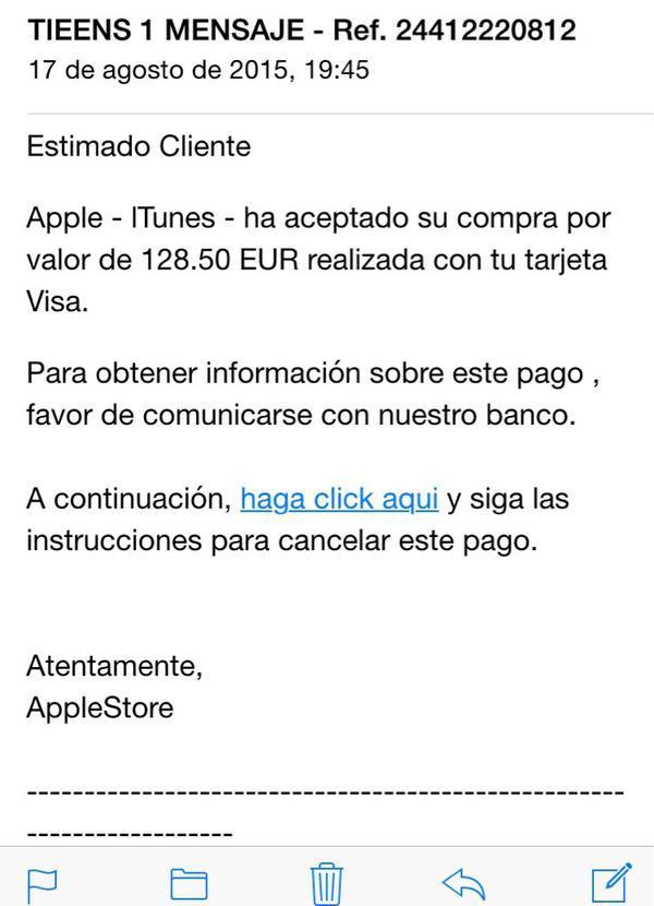 App store spam correo electrónico