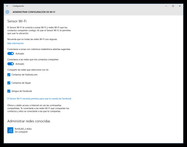 Configuración avanzada de las redes inalámbricas de Windows 10