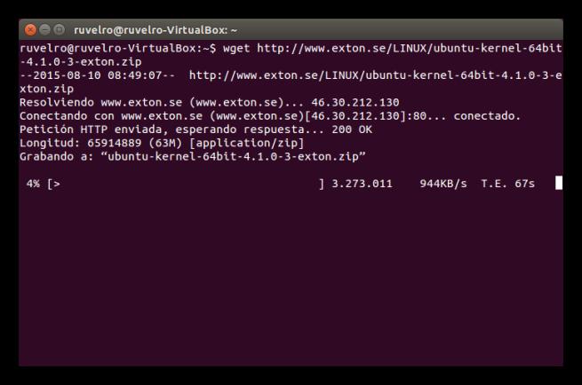 Descargando el kernel de Linux 4.1