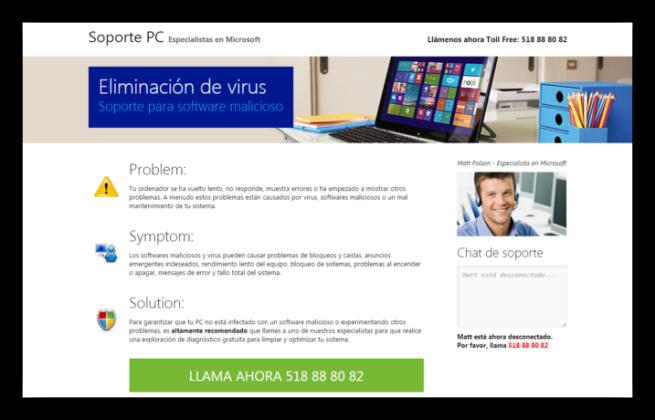Estafa soporte técnico en español 1