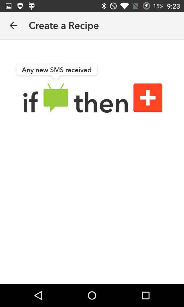 Configurar THAT en IFTTT