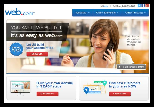Página web de Web.com