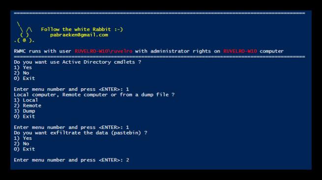 Obtener contraseñas de Windows con RWMC