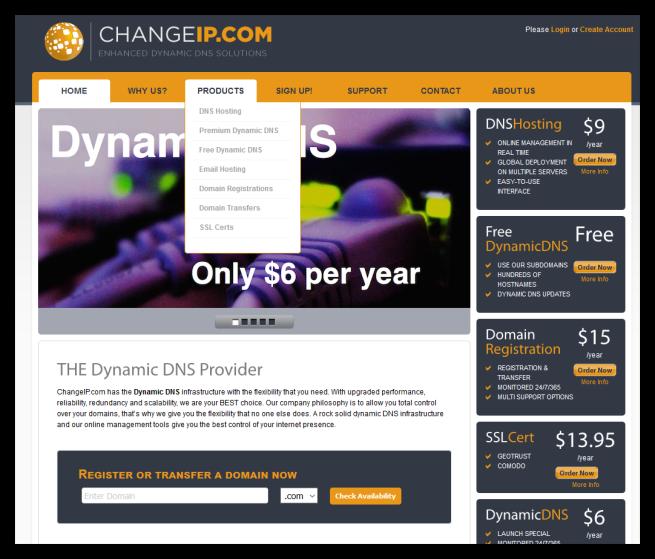 Seleccionar DDNS gratuito en ChangeIP