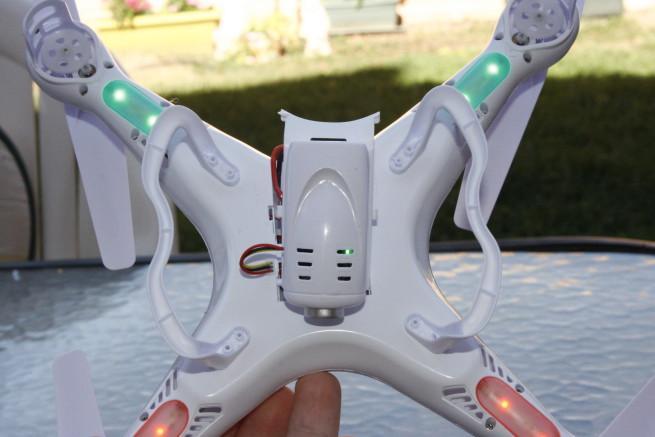 LEDs del dron Syma X5C