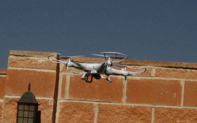 Vuelo exterior del dron Syma X5C