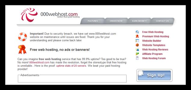 000webhost - ataque informático