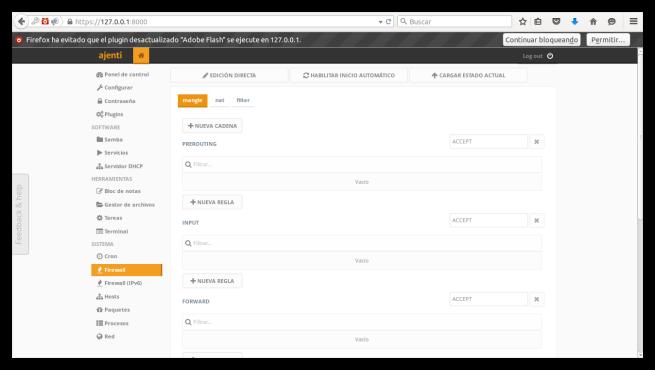 Ajenti Server Admin Panel opciones 1