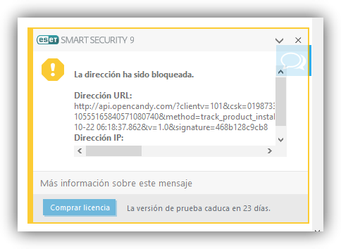 EaseUS Partition Master -  - OpenCandy - intento de conexion