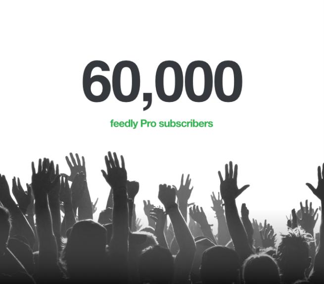 Feedly - 60000 suscriptores
